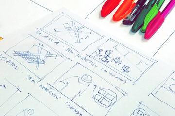 Professores cursistas produziram storyboard para ilustrar suas propostas de experiências de aprendizagem. Foto: Karla Vidal